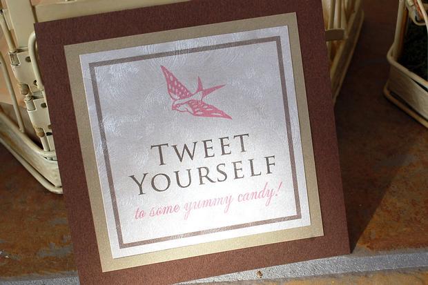 tweet baby shower decor, tweet yourself