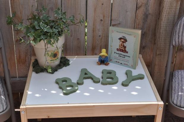 vintage children's book baby shower