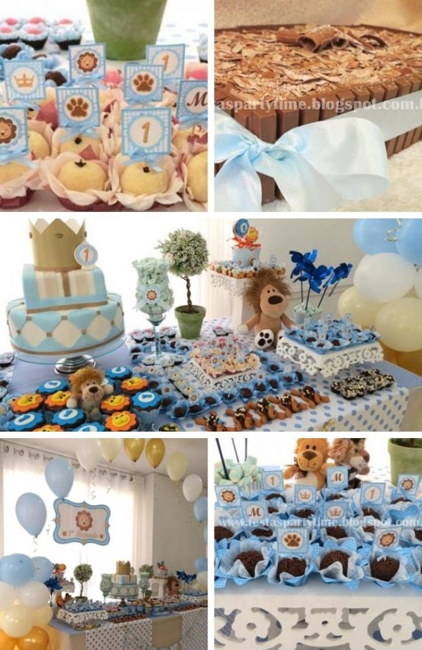 Blue Lion King and Friends Party tablescape