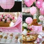 Pink and Gold Hot Air Balloon Baby Shower