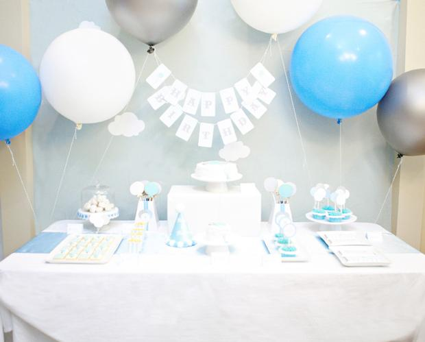 balloon themed first birthday party decoration ideas