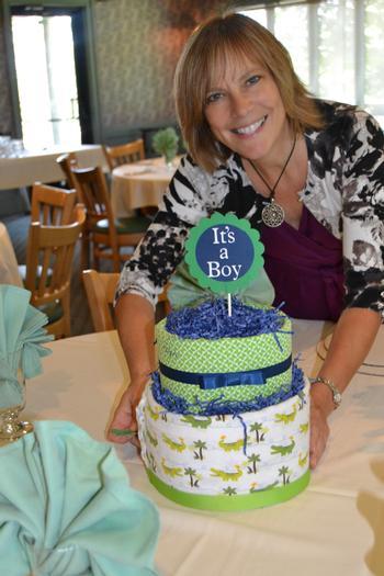 diaper cake Alligator Baby Shower