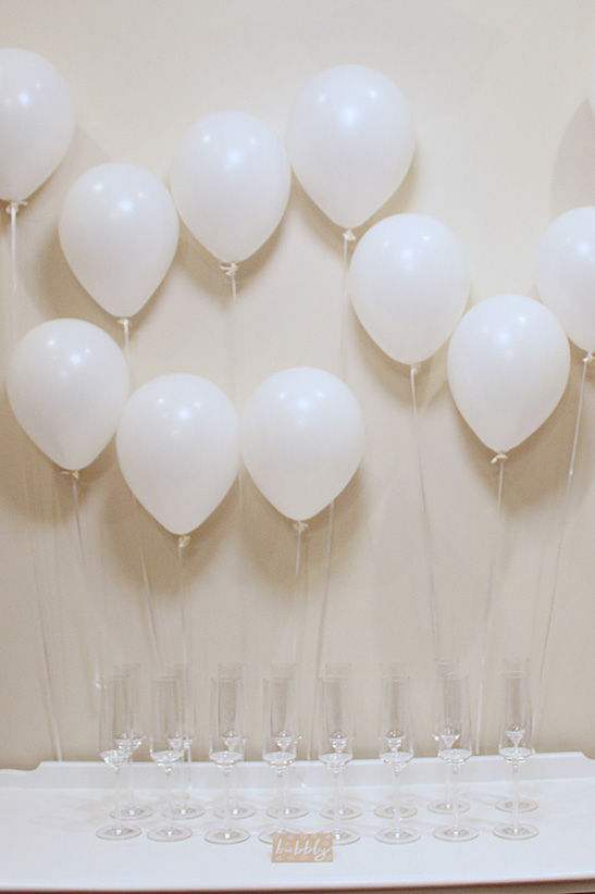 drink station balloons gender reveal