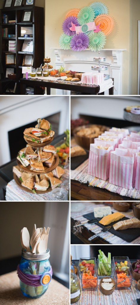 food, sewing themed baby shower
