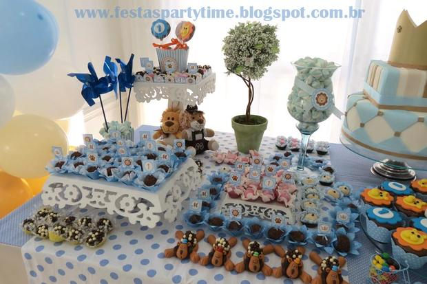 lion king birthday party dessert table treats