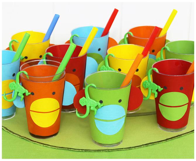monkey cups sock monkey party
