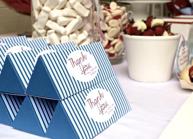 nautical themed favor boxes