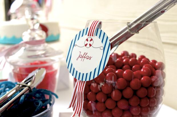 nautical themed party lollies jaffas