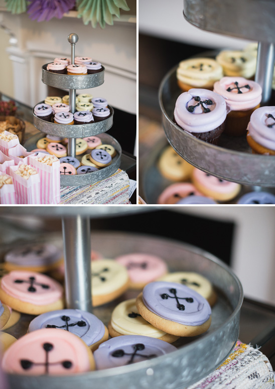 sew themed cupcake
