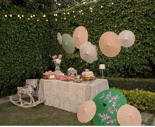 sunset baby shower decorations