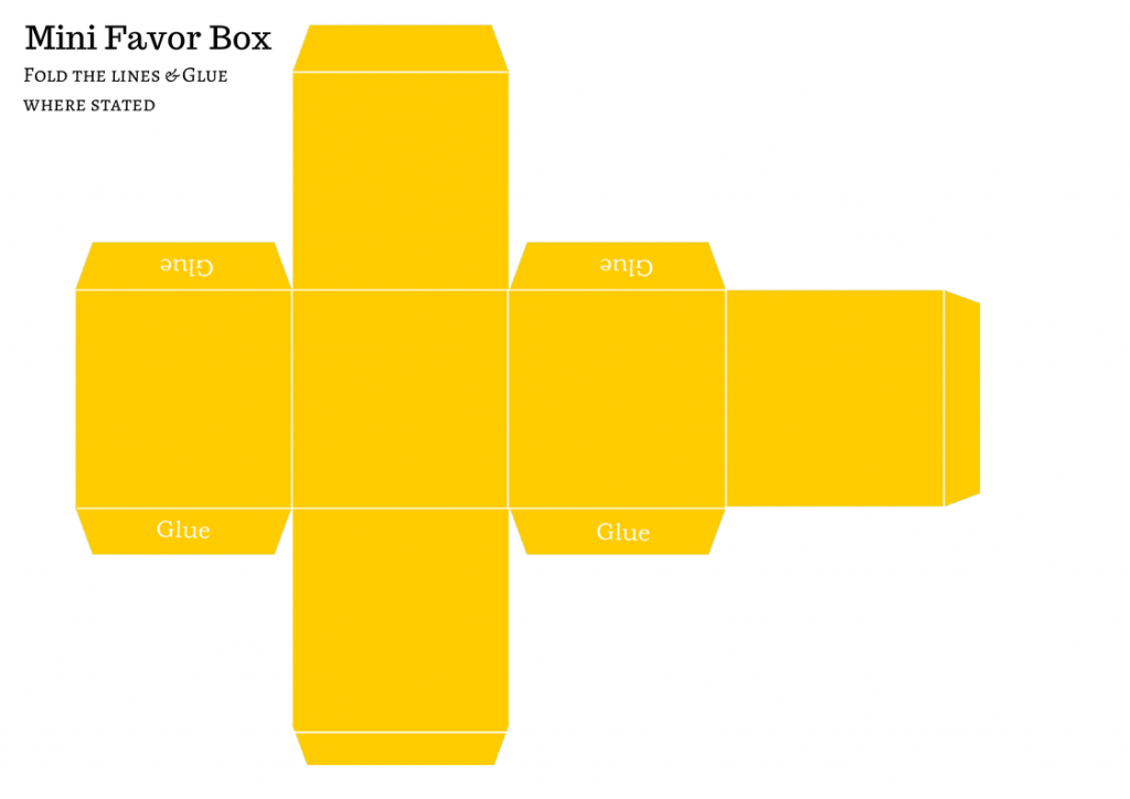 free baby shower favor box template