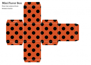 FREE DIY Favor Box, free baby shower favors, free favor template