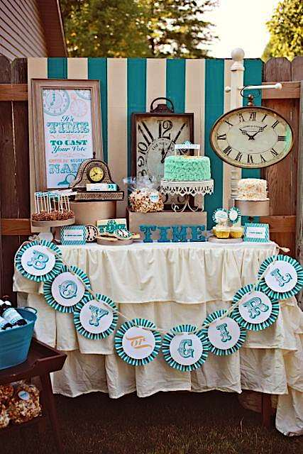 Clock Themed Baby Shower Decors