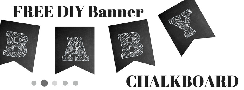 photo regarding Printable Chalkboard Letters referred to as No cost Chalkboard Banner - Boy or girl Shower Strategies - Themes - Video games