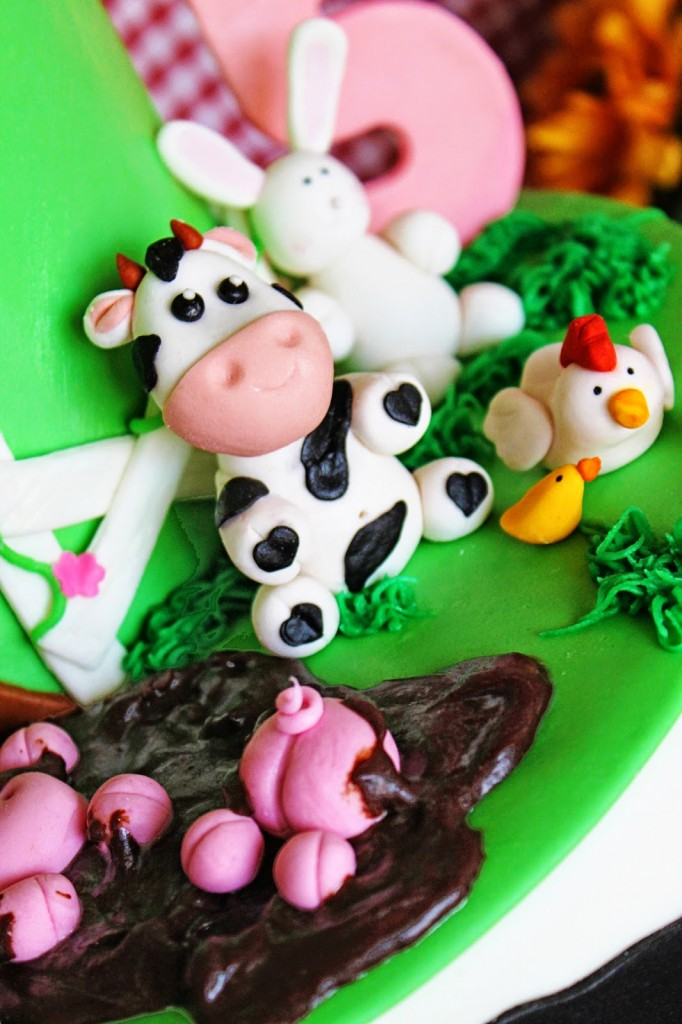 little ducks and chicks and cows