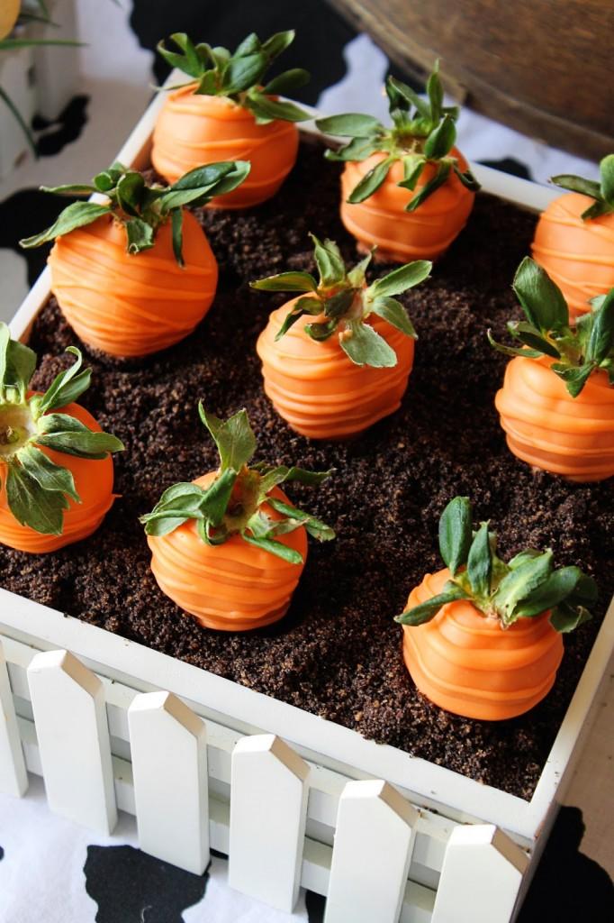 Cute Farm Party - Farm Animal Baby Shower Ideas Carrot Treats