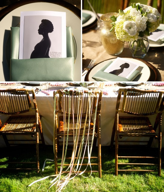 beautiful outdoor baby shower ideas chair