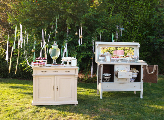 beautiful outdoor baby shower party