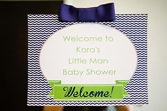 little man themed baby shower invite