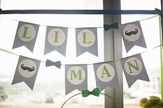 little man themed baby shower