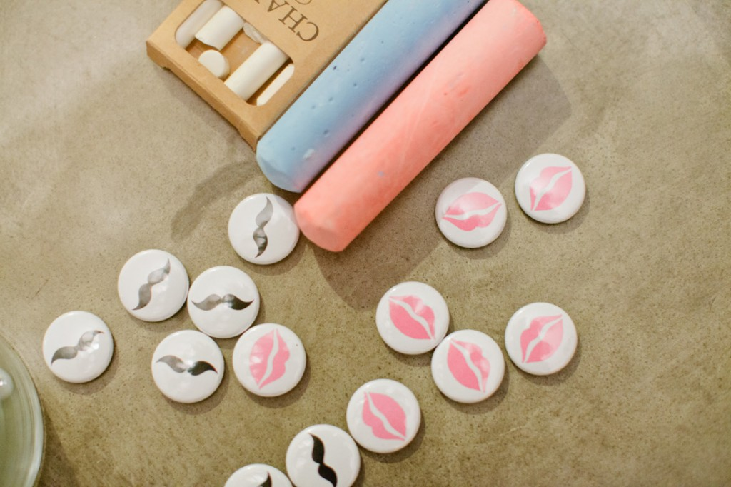 mustaches and lips gender reveal