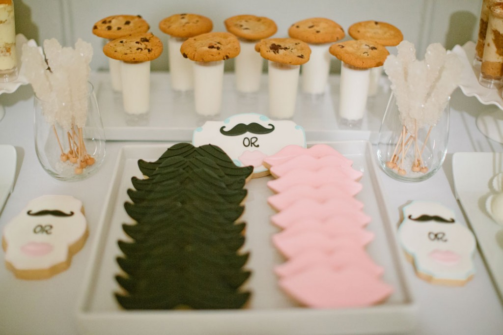 mustaches and lips gender reveal baby shower