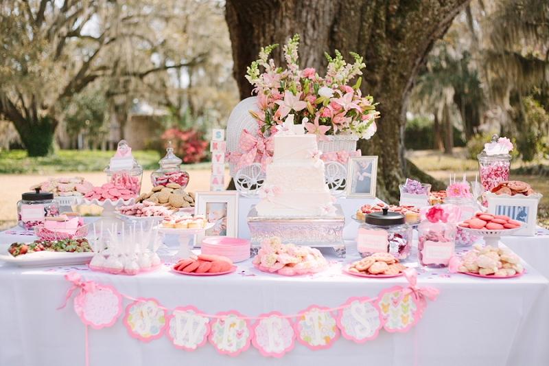 outdoor baby shower, southern baby shower ideas