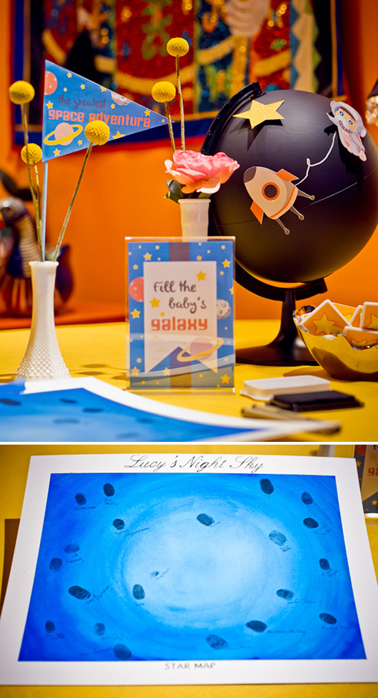 outer space baby shower, space themed decoration ideas