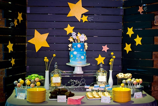 outer space baby shower, space themed