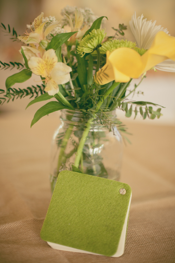 Green and Yellow Baby Shower flowers