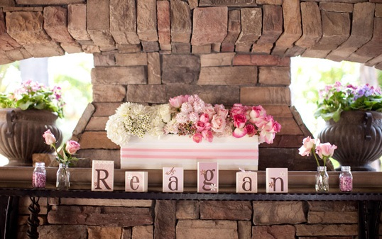 Pink Ombre Baby Shower decor