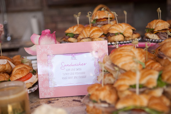 Pink Ombre Baby Shower food