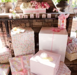 Pink Ombre Baby Shower gifts
