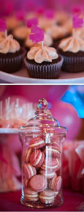 Pink Ombre Baby Shower treats