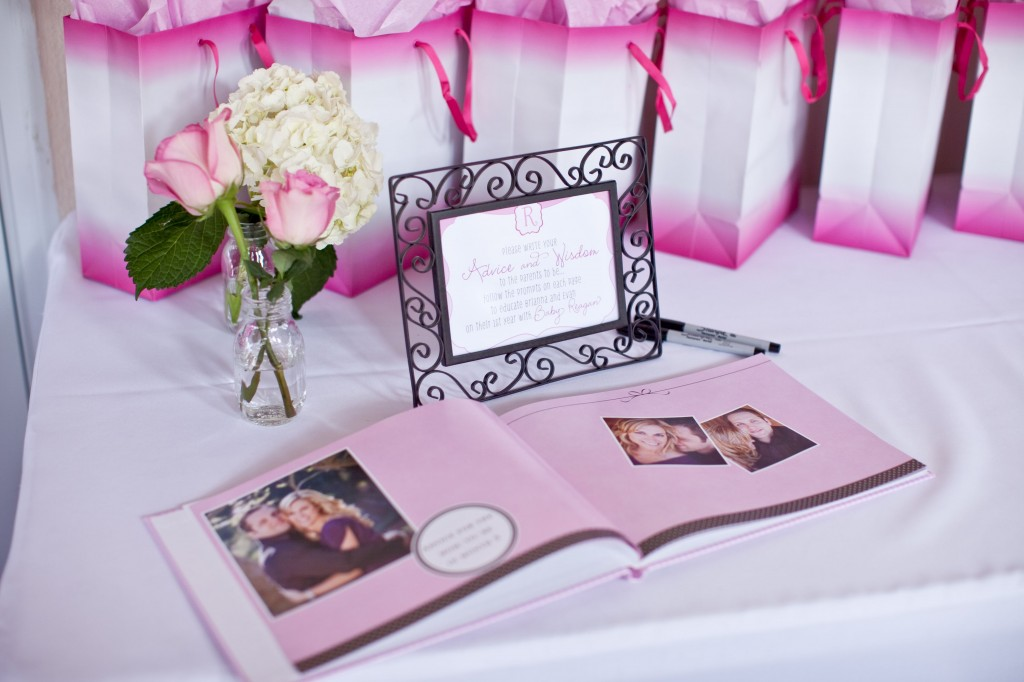 Pink Ombre Baby Shower welcome