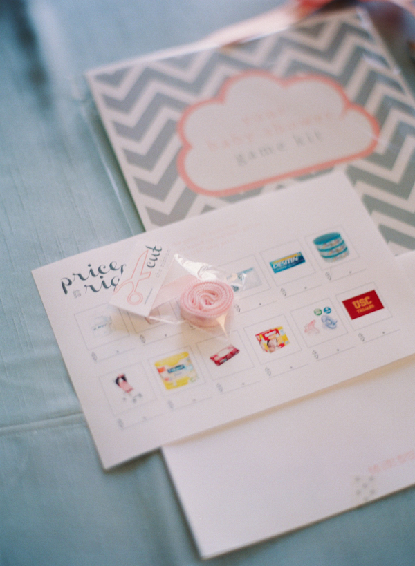 cloud themed baby shower game