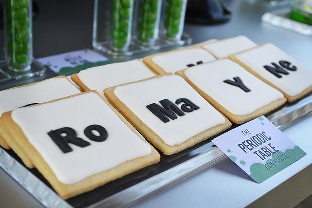 mad science party cookies