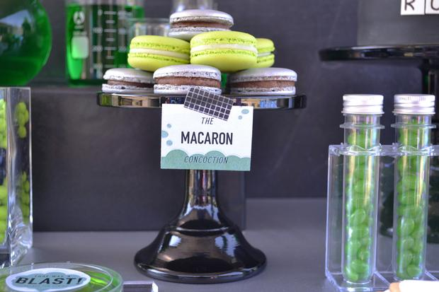mad science party macarons