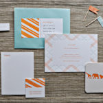 Orange and Aqua Baby Shower