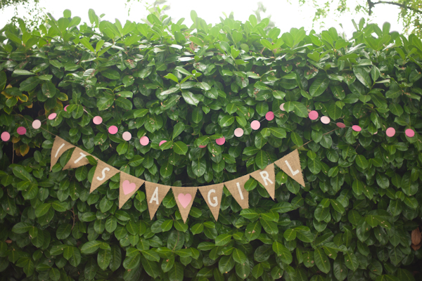 pink baby shower decoration