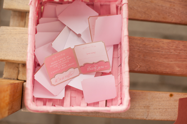 Pink and Floral Baby Shower raffle tickets