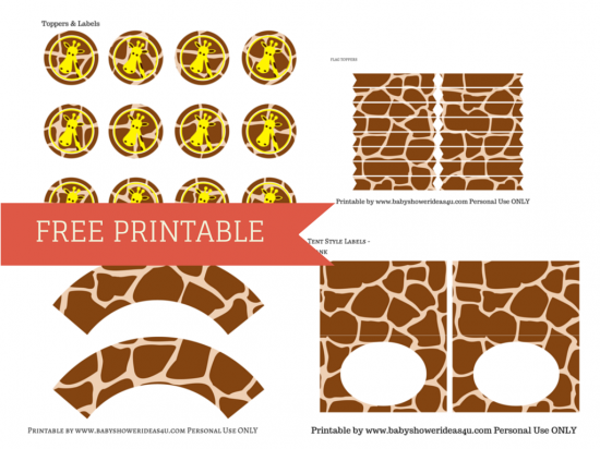 FREE GIRAFFE Themed BABY SHOWER PRINTABLE