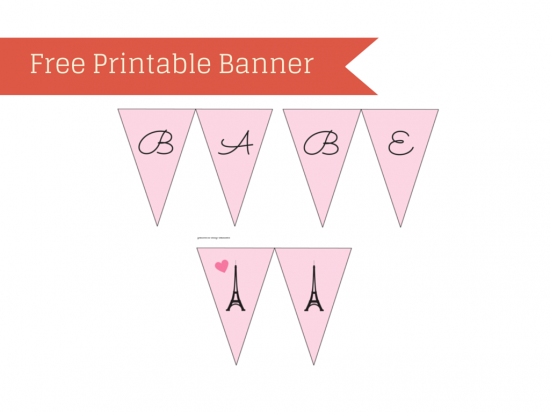 Free Parisian Baby Shower Printable
