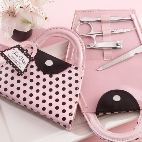 parisian baby shower favors manicure set