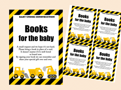 books for the baby construction theme baby shower activity