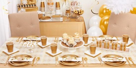 gold tableware ideas