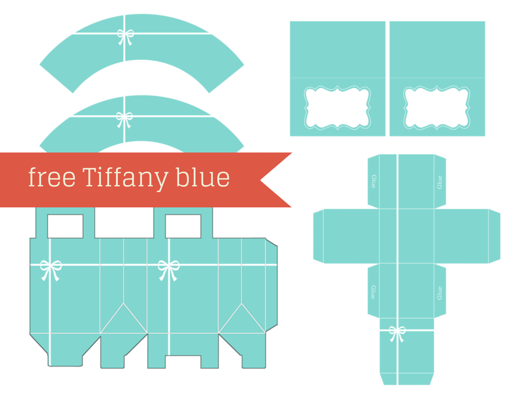 Free Tiffany themed Baby Shower Printable