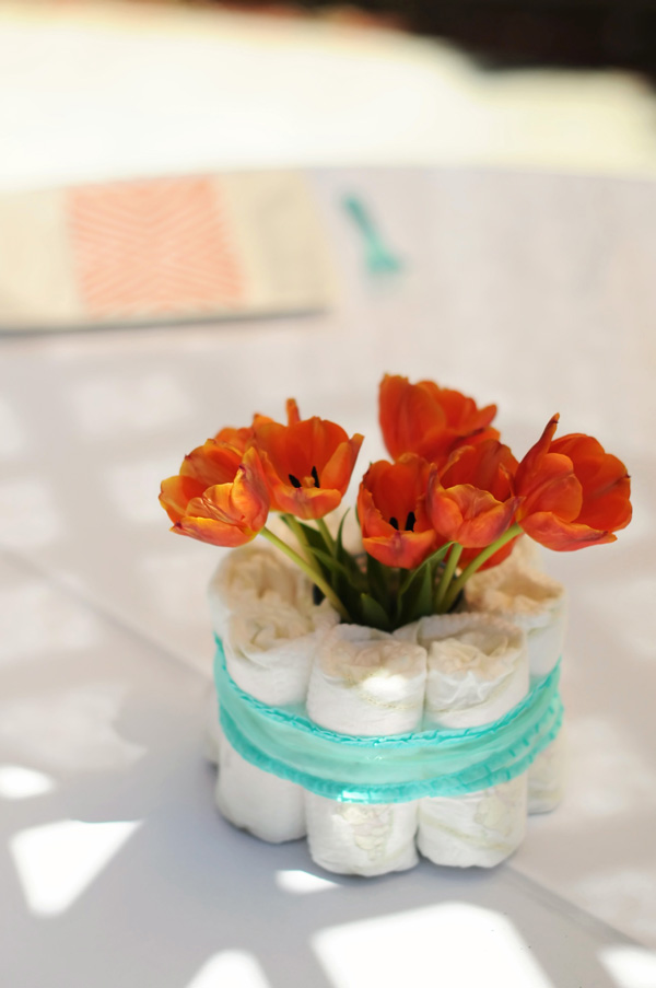 Orange and Aqua Baby Shower (6)