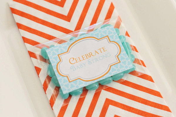 Orange and Aqua Baby Shower (8)