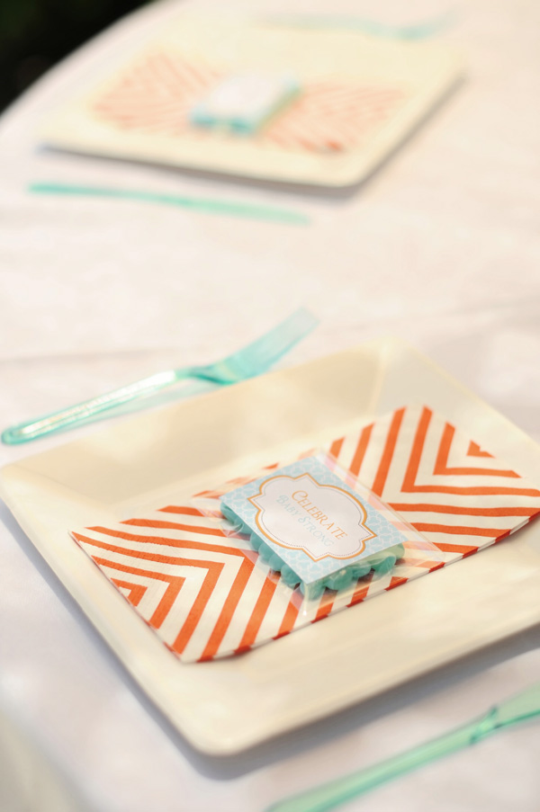 Orange and Aqua Baby Shower (9)